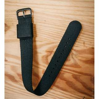 20mm Black NATO pass through strap with black PVD buckle/hardware