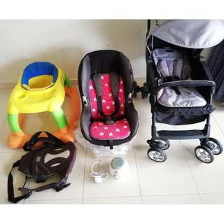 STROLLER,CAR SEAT, BABY WALKER & CARRIER