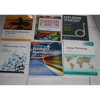 Cheap 6 New University texts books strategy, strategic change, marketing, international business, business management,