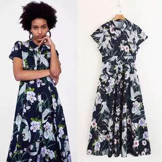 2018 Spring and Summer New European Station Print Dress Women's Printed Skirt