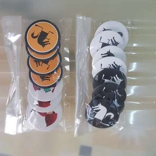 Big Bad Wolf Badges (Set of 16)