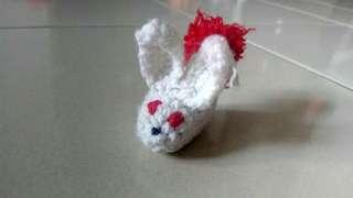 Handmade Knitting White Rabbit Toy #MidMay75