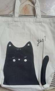Cat Tote Canvas Bag