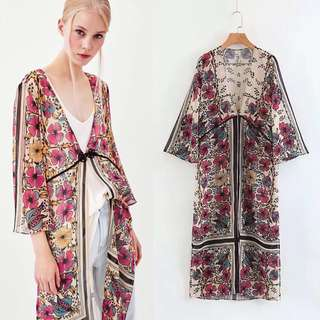 2018 Spring and Summer New European Station Print Dress