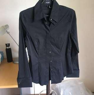 Oxford black work shirt
