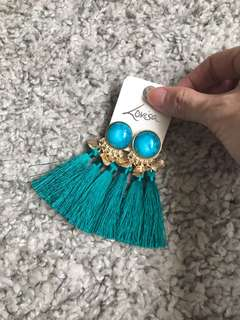Lovisa blue green Tassel Earrings