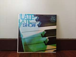 LATE LATE SHOW /DINAH WASHINGTON VINYL RECORD