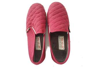Fur red shoes