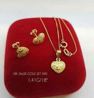 Saudi gold heart 1 set