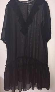H & M Sheer black dress