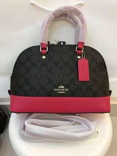 Coach Mini Sierrain pink handbag sling bag