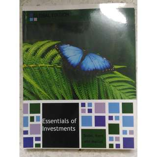 BF2201 NTU NBS Year 1/2 Essentials of Investments Textbook