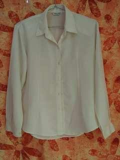Satin white blouse