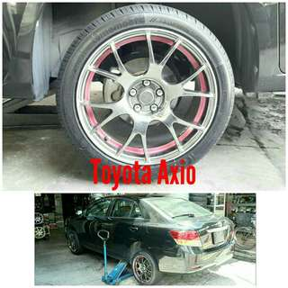 Tyre 215/45 R17 Membat on Toyota Axio 🐕 Super Offer 🙋♂️