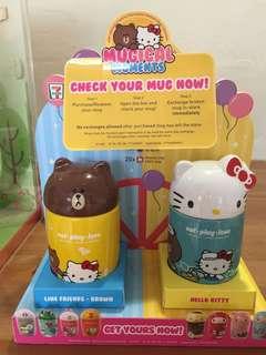 Line friend +Sanrio character ceramic mug collection