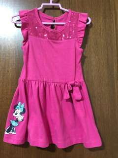 Disney Minnie Mouse pink toddler dress for 2 years old