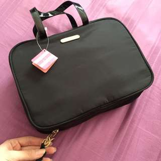 Authentic Black Victoria Secret Travel Pouch/ Toiletries Pouch/ Makeup Pouch