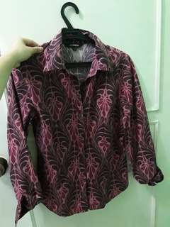 Fushia floral blouse