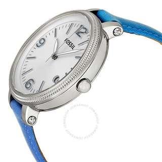 Fossil Watch ES3279 Heather Three Hand Leather Watch Blue