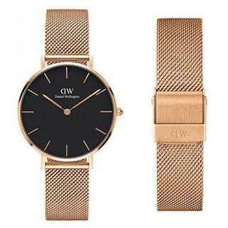 Daniel Wellington Classic Petite Melrose Rose Gold 28cm (black) RRP $209