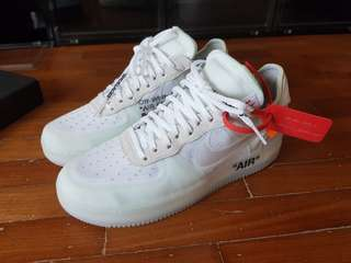 US 9 Off White Air Force 1