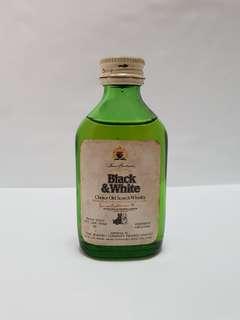 James Buchanan Black & White, 50ml, Mini Liquor, Collectible