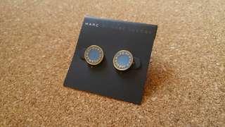 包郵Marc jacobs淺藍色金邊耳環