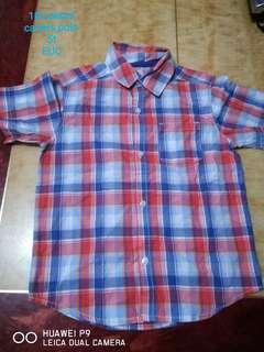Carters checkered polo shirt