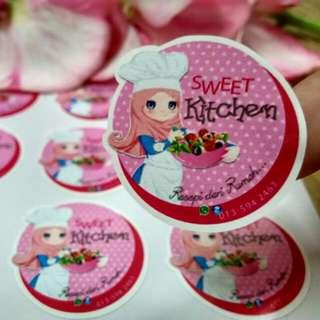Sticker Label Kuih Raya
