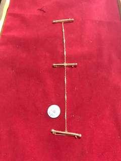 1960s Peranakan Silver Gold Plated Kerongsang