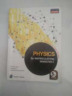 MATRICULATION Sem 1 OxfordFajar Physics 5th Edition(40% discount)