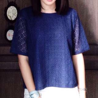 Shopatvelvet navy top