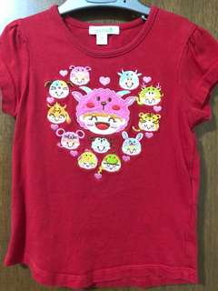 Bossini toddler red tshirt , size 100 / 56
