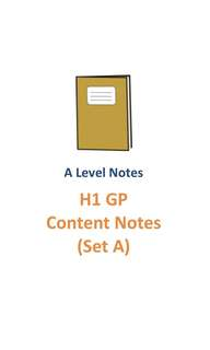 2017 SAJC GP Content Notes (Set A) / H1 General Paper / Topical GP content / new syllabus 8807 / full 2 years syllabus / JC1 and JC2 / not exam paper