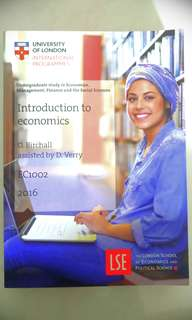 Introduction to Economics EC1002 Subject Guide