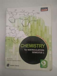 MATRICULATION Sem 1 OxfordFajar Chemistry 5th Edition(40% discount)