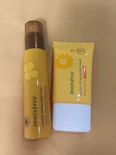 1 set innisfree face mist and sunblock