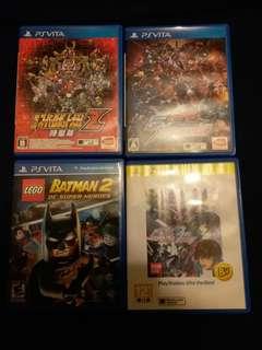 PSV PS Vita Game ( Gundam and Batman )