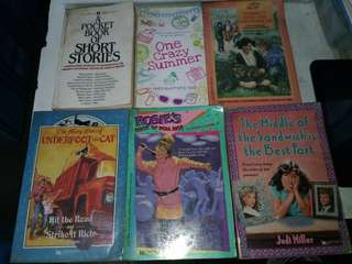 Preloved books P200 for all 6