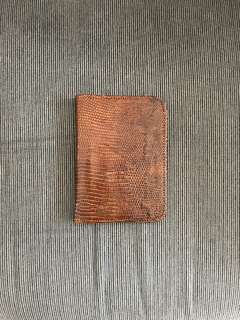 Faux Snake Leather Passport Holder
