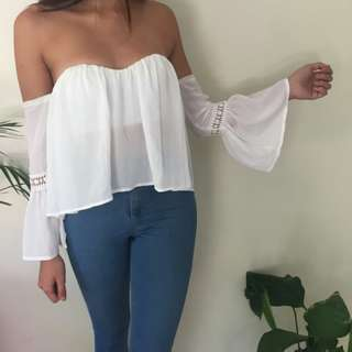 Size 8 off the shoulder top