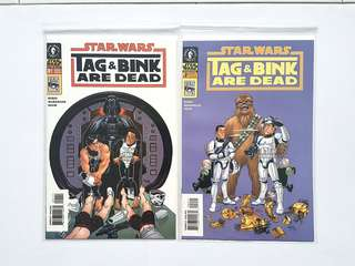 Dark Horse Comics  Star Wars Tag and Bink are Dead Complete 2 Issue Mini-Series Near Mint Condition First Appearance Of Tag and Bink  Solo Movie