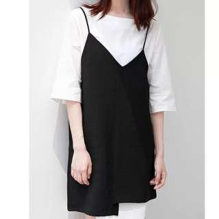 Black White Two Piece Dress