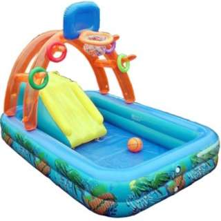 🔶 IN STOCKS 🔶Inflatable Splash Pool with Slide Basketball and Hoops