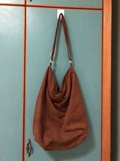 H&M Brown Suede Tote Bag