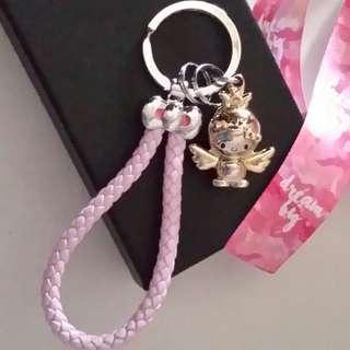 💖🆕Hello Kitty Woven Keychain, Ring, Holder