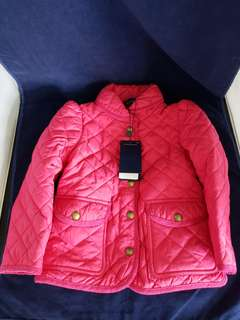 Polo 女童夾棉外套 ~ 桃紅色