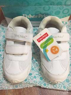 Fisher price white rubber shoes