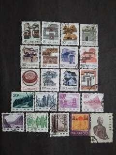 Best Selection & Mix Collection Of China - 21v Used Stamps #1