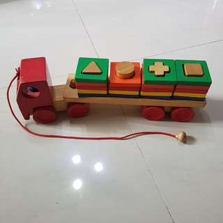 Pull Along Wooden Train And Shape Sorter